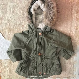 Green parka from old navy